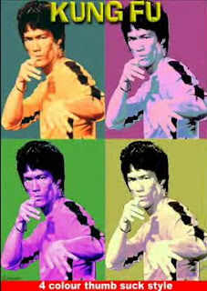 Kung Fu: 4 color thumb suck style: Parody of Bruce Lee