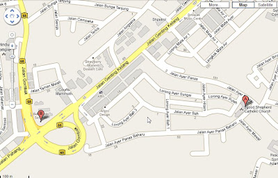 location map Church of Good Shepard Setapak