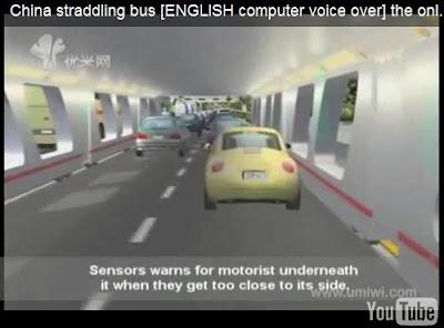 straddling bus: sensors warn too close vehicles