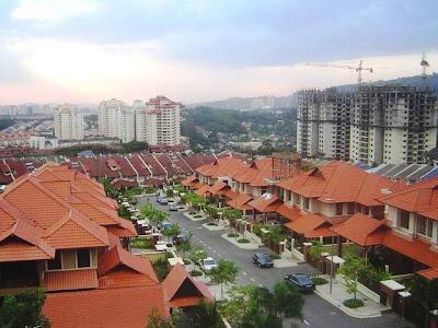 View of Taman Tun Dr Ismail Kuala Lumpur