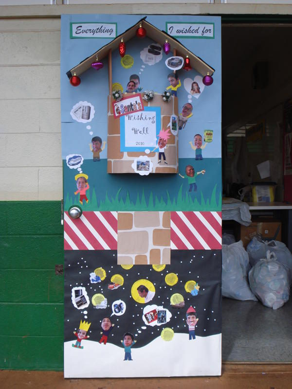 Christmas Door Decorating Contest Ideas For School : Christmas decorating contest winners photograph aiea high