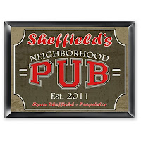 Traditional Neighborhood Pub Sign