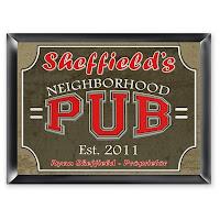 Traditional Neighborhood Pub Sign