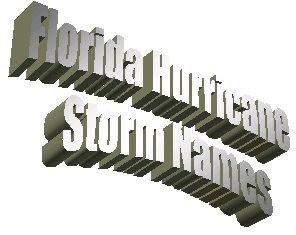 Florida Hurricane Storm Names
