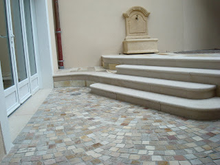 Pavage en Quartzite Thonon