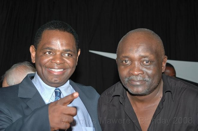 BUSINESSMAN MUTUMWA MAWERE AND THE REV MUFARO STIG HOVE