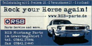 Anzeige des Monats: RSB Mustang Parts