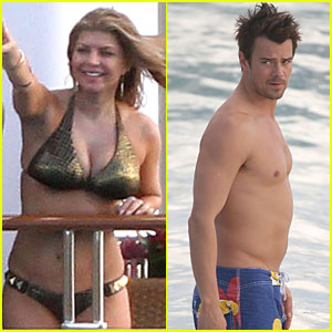 Fergie slips into a gold bikini as she relaxes on a boat in on Saturday ...
