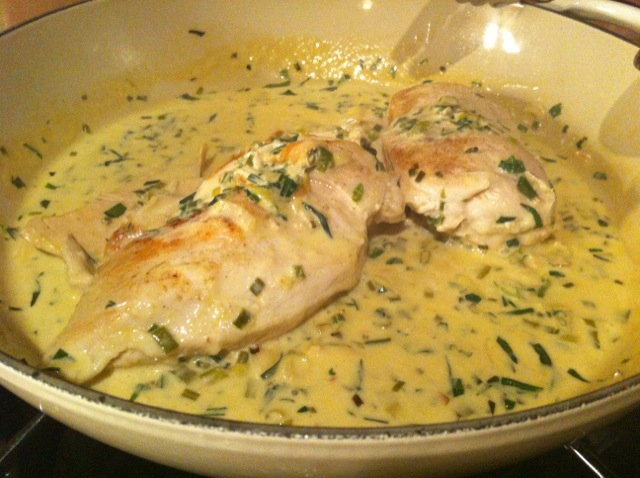 chicken breasts in a mushroom tarragon and mustard pan sauce tarragon ...