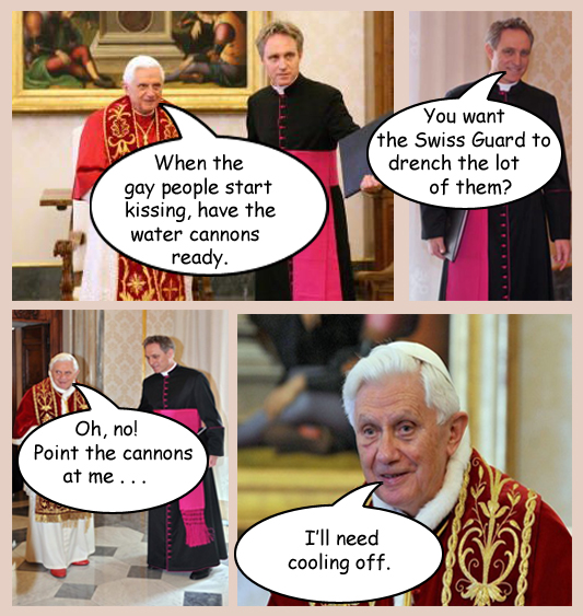 gay pope joke