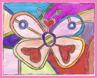 borboleta1 Releitura As Borboletas Romero Brito para crianças