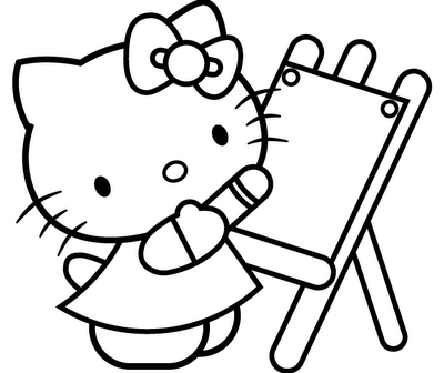 Hello Kitty Coloring Pages 281029