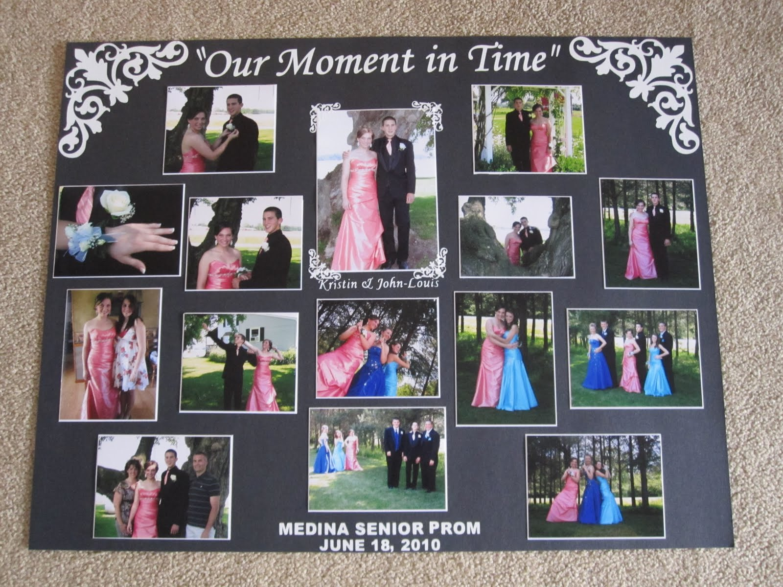 PAPERPASTIME Prom Picture Display Board
