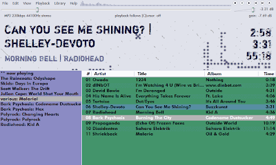 playlist screen