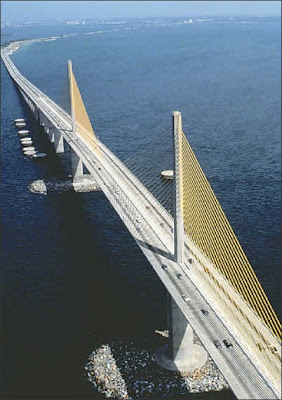 Tampa Bay's Sunshine Skyway Bridge