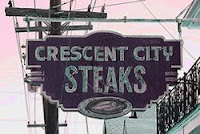 Sign: Crescent City Steak House