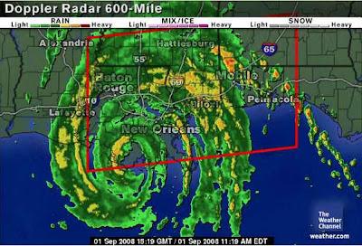Hurricane Gustav landfall