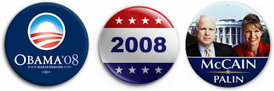 Election 2008 presidential candidate buttons