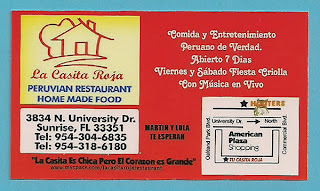 Business card: La Casita Roja