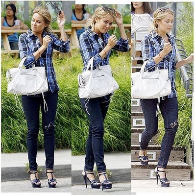The Hills star Lauren Conrad looked pretty and stylish in Haute Hippie