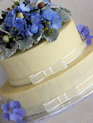 White Ganache Wedding Cake