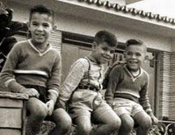 Os primos Beto, Lobão e Fernando.