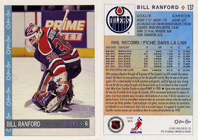 Bill Ranford, Edmonton Oilers, O-Pee-Chee, 92-93, NHL, hockey, hockey cards