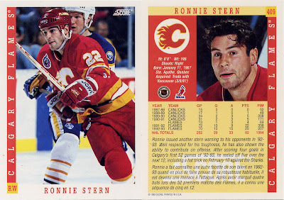 Ronnie Stern, Calgary Flames, Score, 93-94, nhl, hockey, hockey card