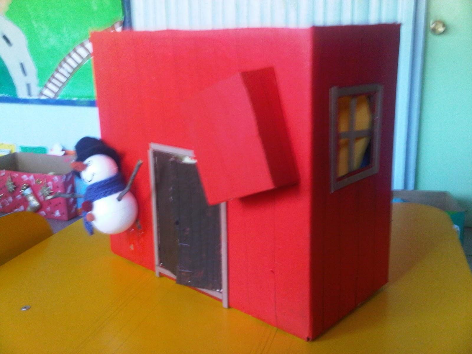 Mi manzana azul decorar cajas de cart n para navidad - Cajas de carton de navidad ...