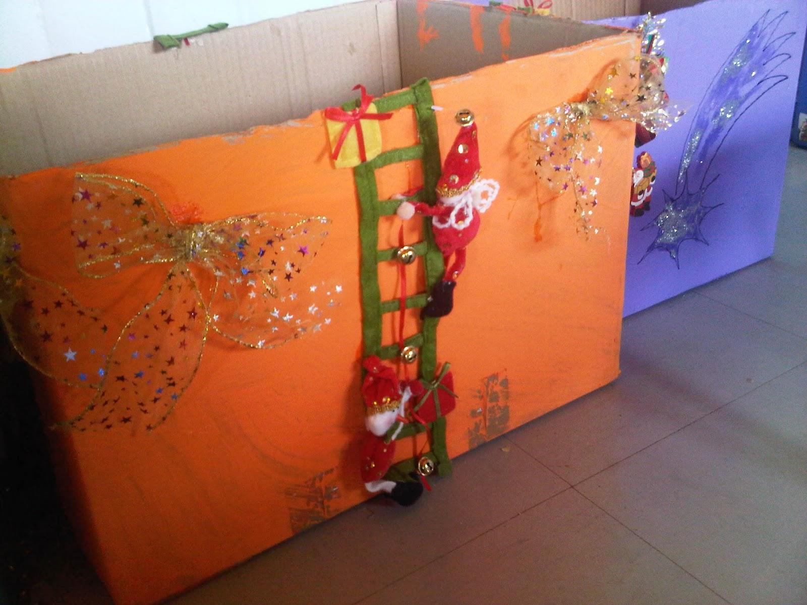 decorar cajas de cartn para navidad
