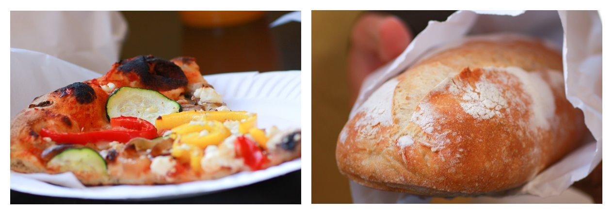 Davis Vegetarian Pizza and Bread Loaf