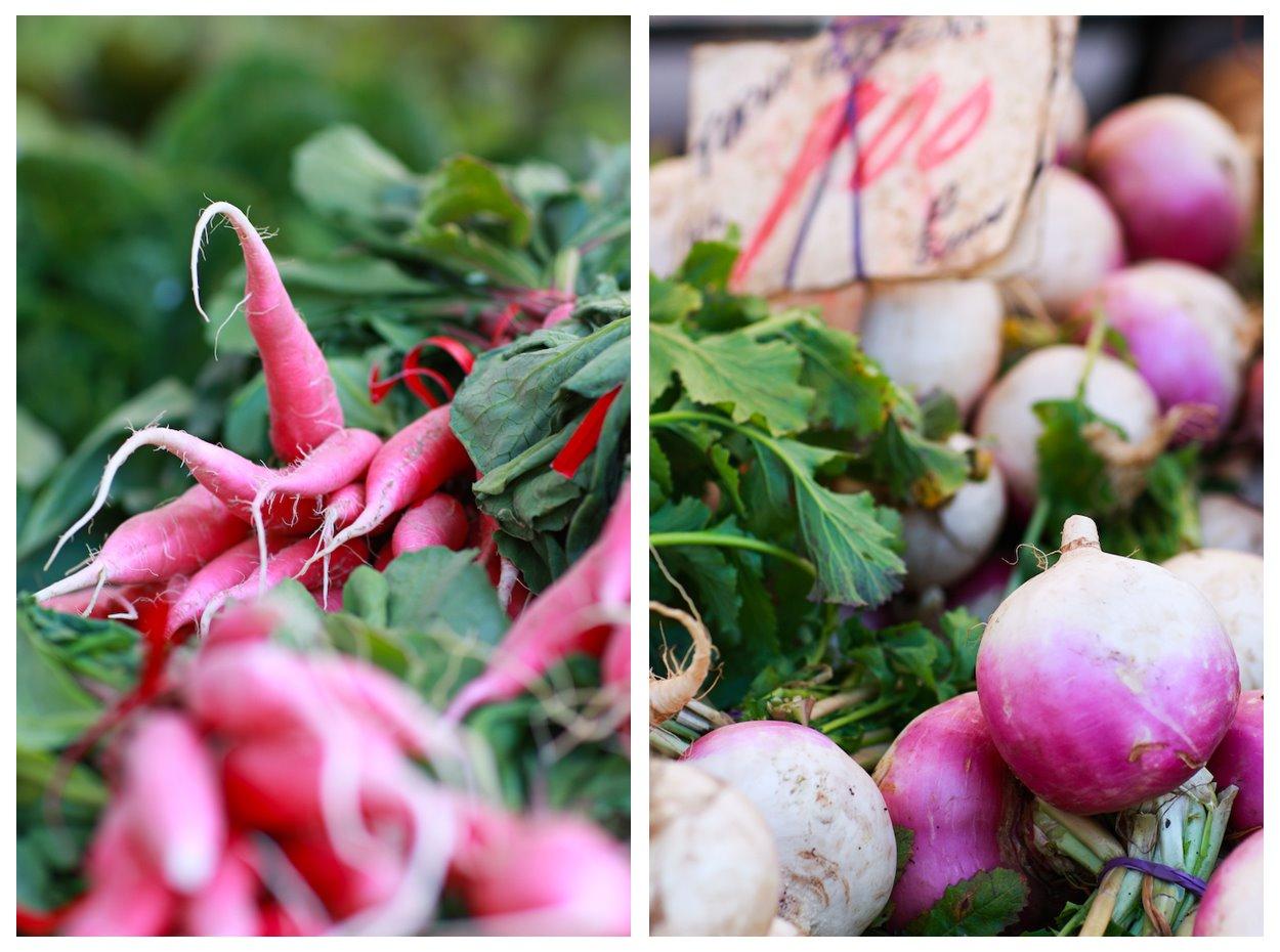 Davis Farmers Market Radish Turnips
