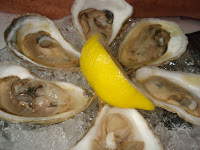raw oysters, falmouth chatham pemaquid, waquoit