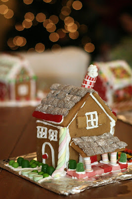 I want you to throw a gingerbread house party! It's super-fun.