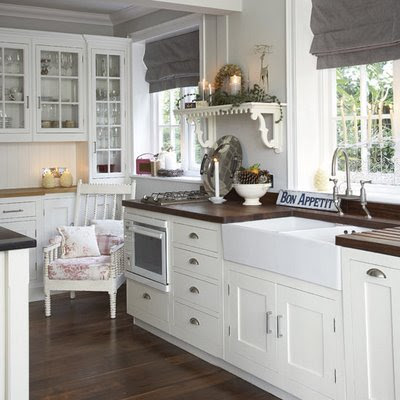 room service ~ decorating 101: painted kitchen cabinets