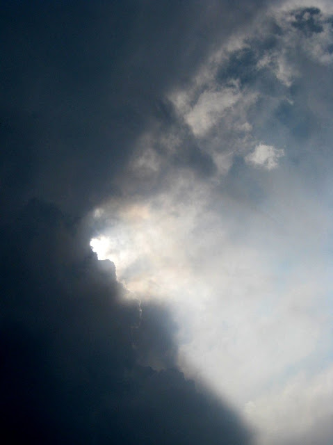 Dramatic clouds and sun