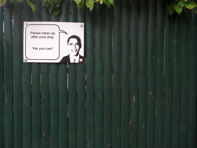 Funny Obama sign