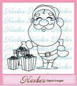 Santa Digital Stamp