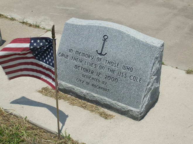 Dedicated By Our Town Rockport For the USS Cole Sailors