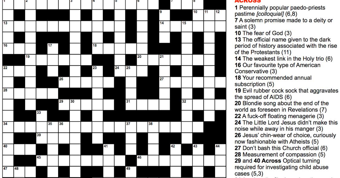Critters crossword