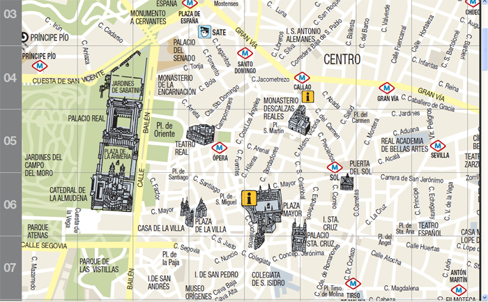 Nosolometro mapa tur stico de madrid for Puerta del sol madrid mapa