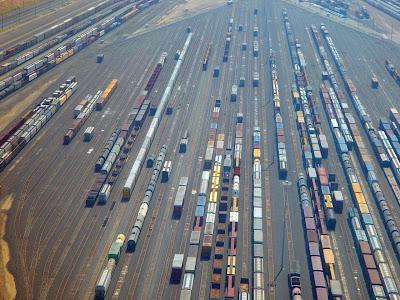 Aerial Of Kansas City Railyard