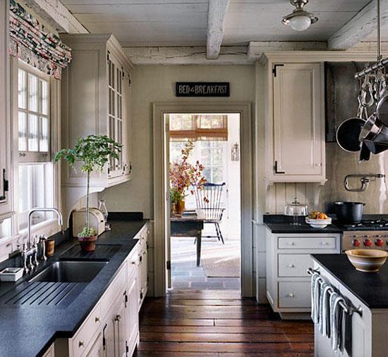 Pale Stone And Dark Timbers Interior Designs