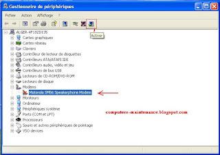 Activer un périphérique sous Windows XP