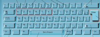 Le clavier AZERTY