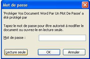 protéger un document word