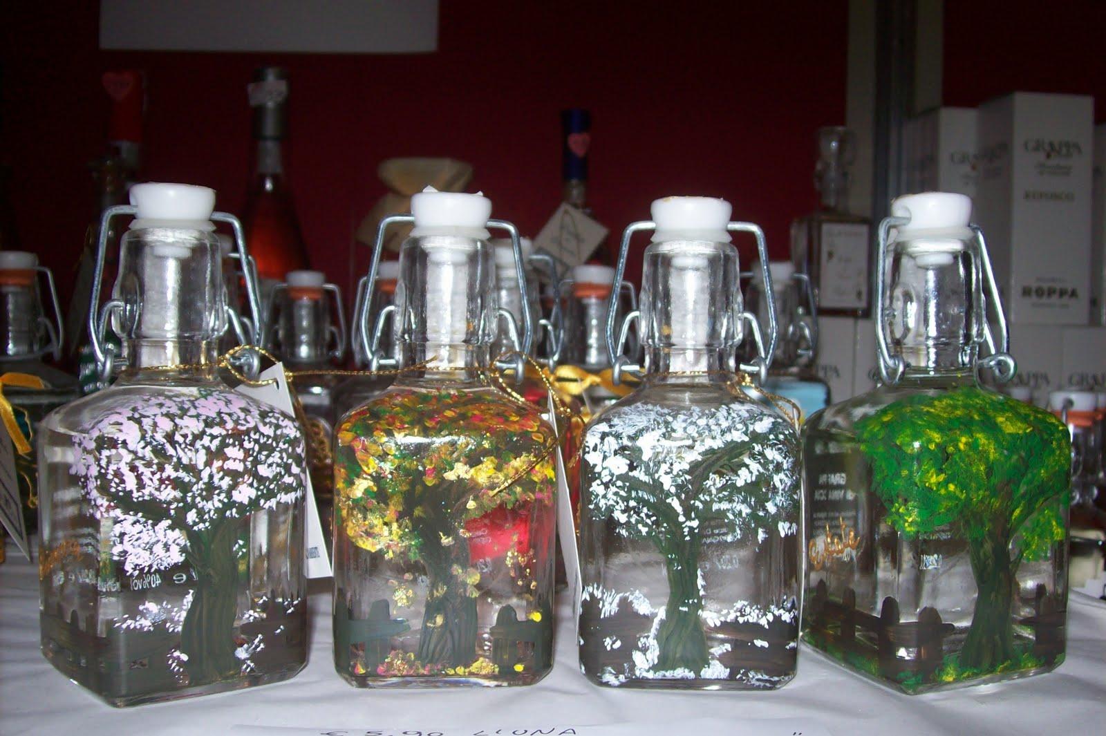 Ideedinonnalaura bottiglie decorate - Bottiglie vetro decorate ...