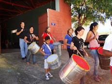 Aula de Percussão Grupo Prego de Linha