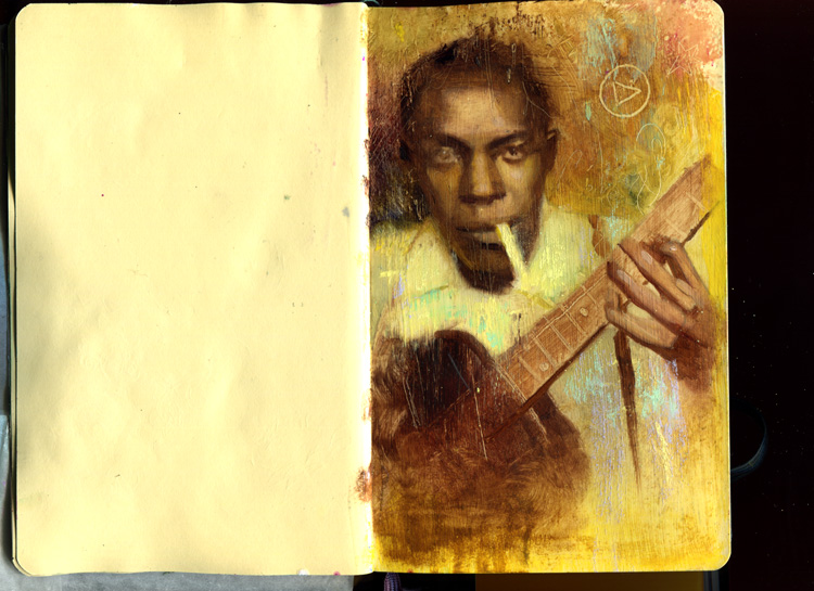 October 24 = gnostic rasputin moleskine paintin