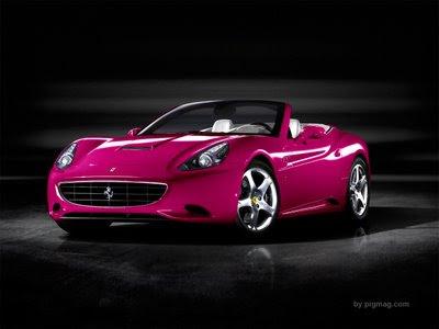 Registro de automóveis Ferrari_rosa